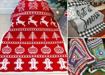 Cosy Christmas Crochet Blankets