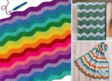 Crochet Ripple Stitch Blankets