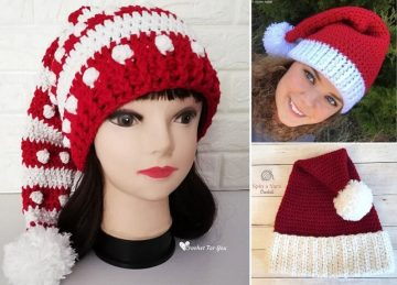 Crochet Santa Hats for Christmas Free Pattern