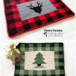 Buffalo Crochet Plaid Placemat with Free Pattern