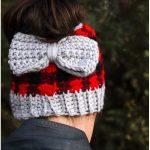 Chunky Plaid Bun Crochet Beanie With Free Patterns