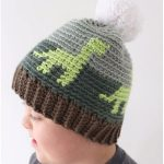 Dinosaur Crochet Hat for Kids with Free Pattern