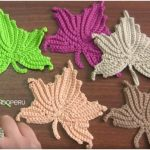Maple Leaf Free Crochet Pattern and Tutorial