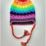 Rainbow Crochet Hat with Free Pattern
