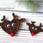 Reindeer Crochet Applique