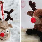 Rudolf Crochet Christmas Reindeer with Free Pattern