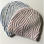 Triangles Brioche Knitting Hat with Free Pattern