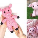 Cute Amigurumi Pigs