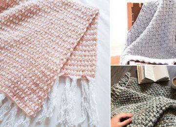Beautiful Woven Crochet Blankets