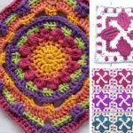 Stunning Colorful Crochet Squares