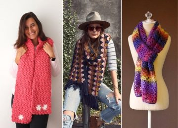 Super Trendy Warm Crochet Scarfs