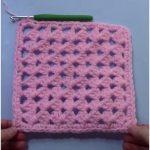 C2C Granny Square Crochet Tutorial FREE