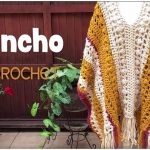 Easy Chunky Poncho Two Rectangles Free Crochet Pattern and Tutorial