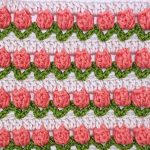 Tulip Stitch Afghan Crochet Square Free Pattern and Tutorial