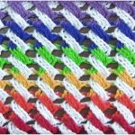 Two or More Colours Cables Stitch Crochet Free Pattern