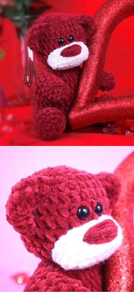 Velvet Teddy Bear Amigurumi