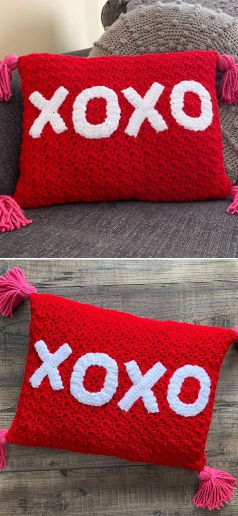 XOXO Valentines Throw Pillow