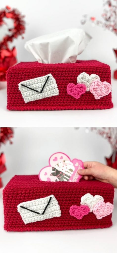 Valentine's Day Tissue Box Cover and Mailbox