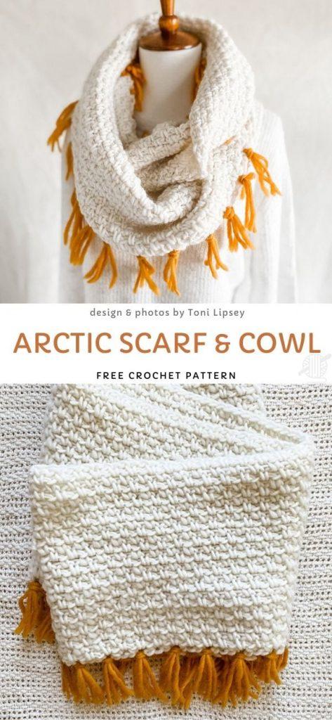 Arctic Scarf & Cowl Free Crochet Pattern
