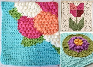 Beautiful Flower Squares