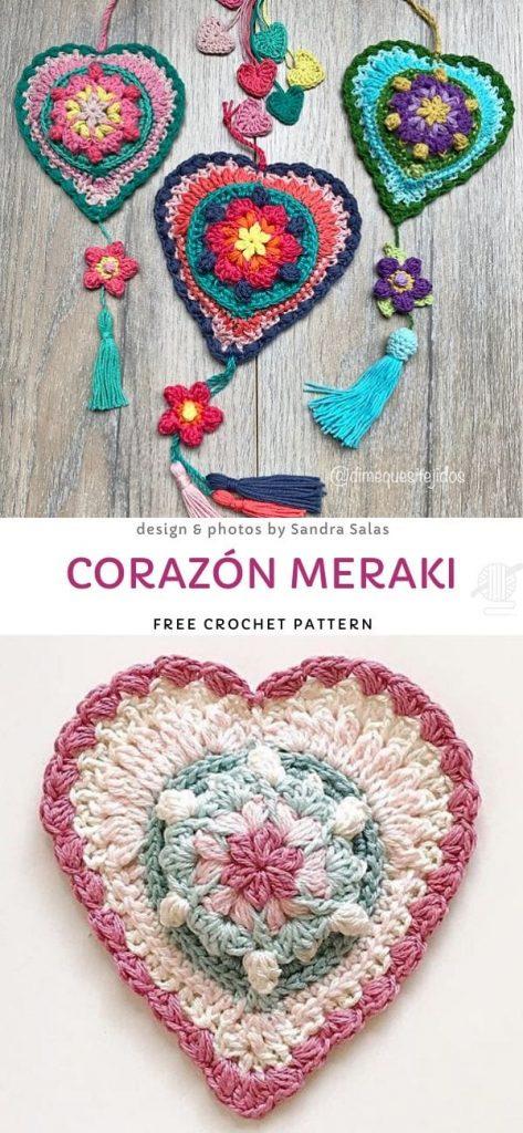 Corazón Meraki Free Crochet Pattern
