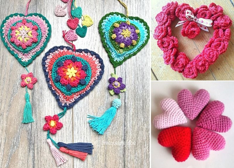 Crochet Home Decor Ideas for Valentines Day