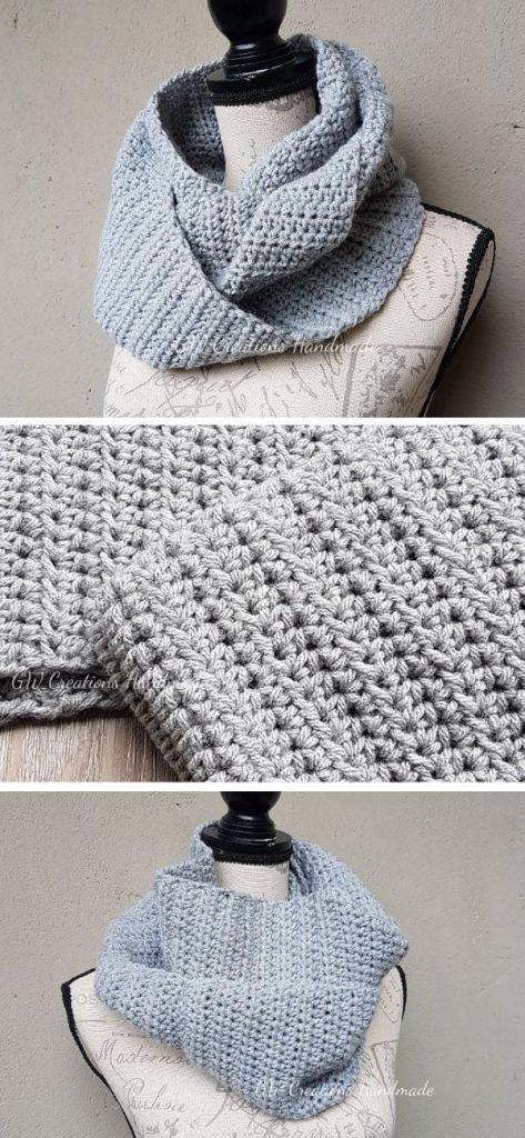 Forrest Infinity Scarf Free Crochet Pattern