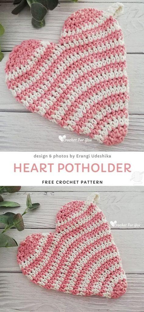 Heart Potholder Free Pattern