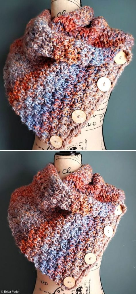 Heights Cowl Free Crochet Pattern