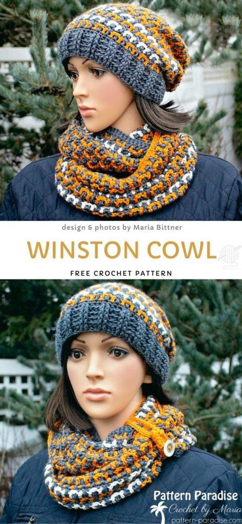 Winston Cowl Free Crochet Pattern