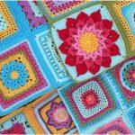 Block a Week CAL Crochet Afghan Blanket Free