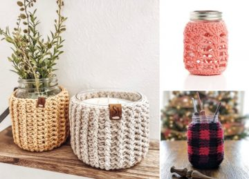 Mason Jar Crochet Ideas