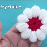 Flower in a Puff Stitch Free Crochet Pattern and Tutorial
