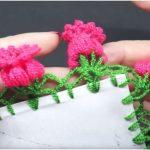 Lace Flower Edging Free Crochet Pattern + Tutorial