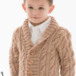 Little Man Cable Knit Cardigan