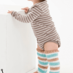 Simple Striped Baby Knit Legwarmers