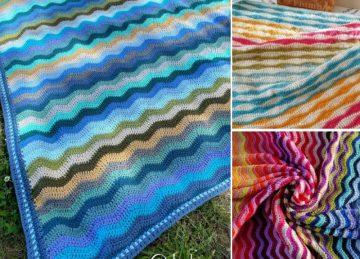 Lovely Ocean Waves Crochet Throws