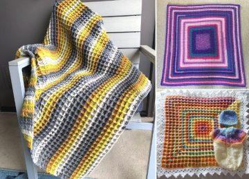 Beautiful Waffle Stitch Baby Blankets
