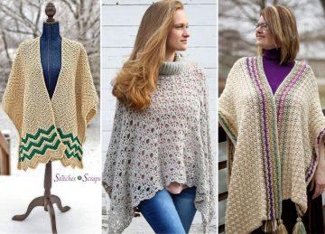 Beautiful Warm Crochet Ponchos Free Crochet Pattern