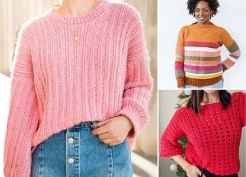 Cosy And Warm Crochet Sweaters Ideas