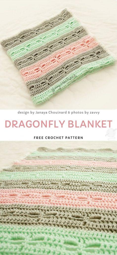 Dragonfly Blanket Free Crochet Pattern