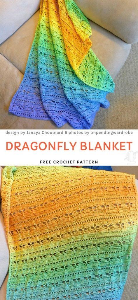 Dragonfly Blanket Free Crochet Pattern_1