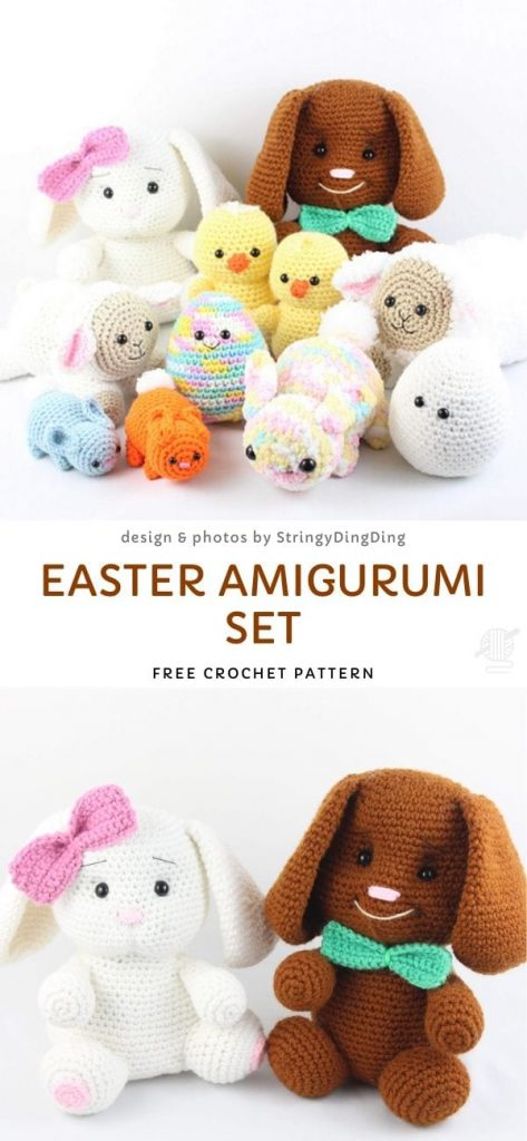 Easter Amigurumi Set Free Crochet Pattern