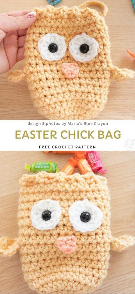 Easter Chick Bag Free Crochet Pattern