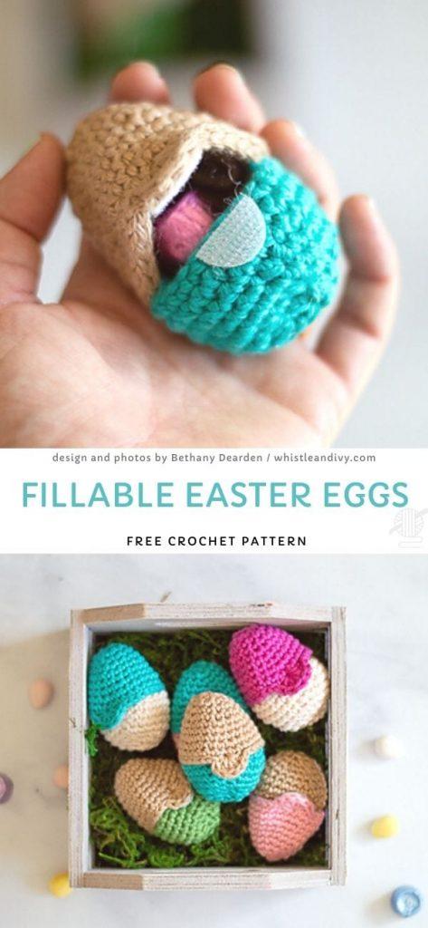 Fillable Easter Eggs Free Crochet Pattern