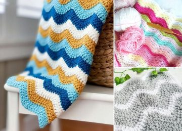Lovely Ocean Waves Crochet Throws