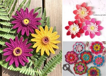 Most Beautiful Crochet Flowers Ideas