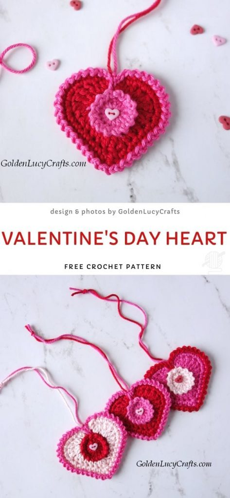 Valentine's Day Heart Free Crochet Pattern