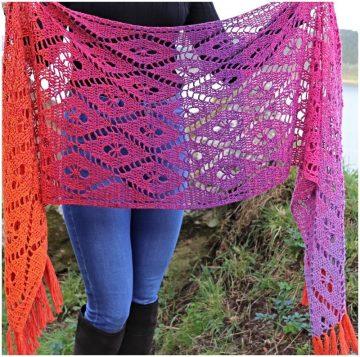 Aideen Wrap Crochet Pattern in Scheepjes Whirl