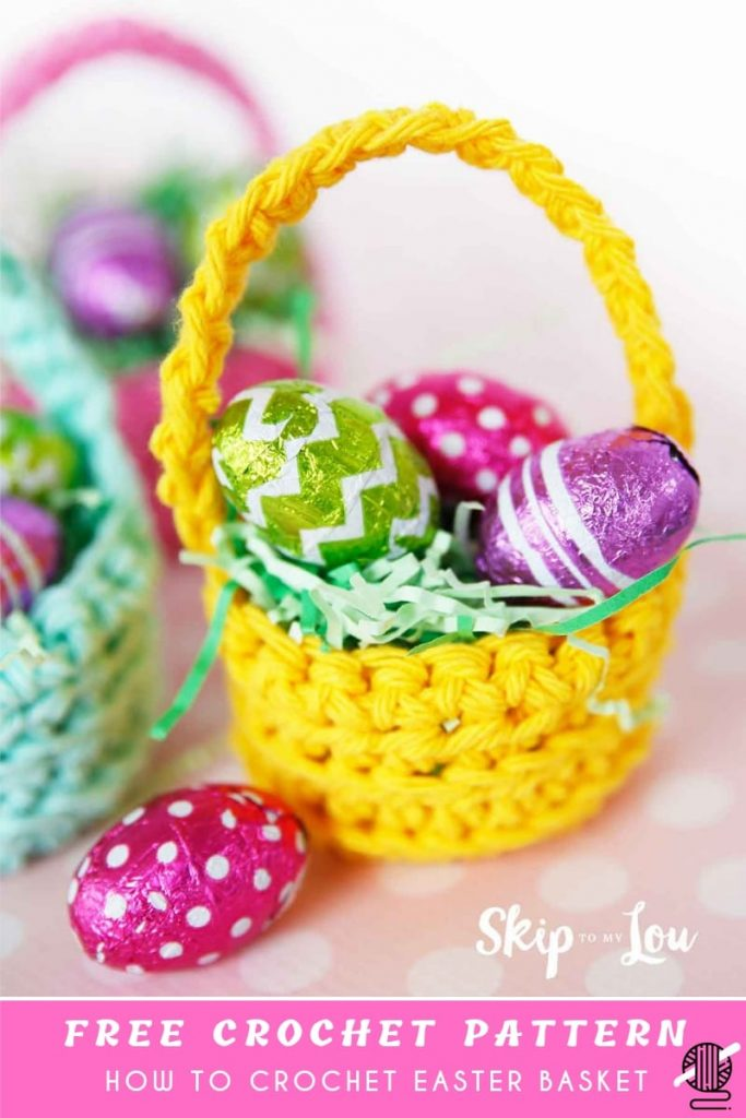 CUTEST MINI CROCHET BASKET PATTERN